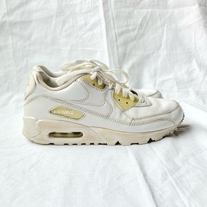 Nike Air Max 90 White Sneakers Vtg Shoe Size 8